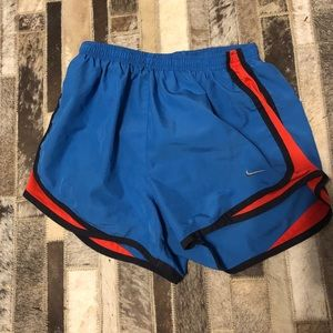 Women's Nike Dri-fit Running Shorts Sz s Blue